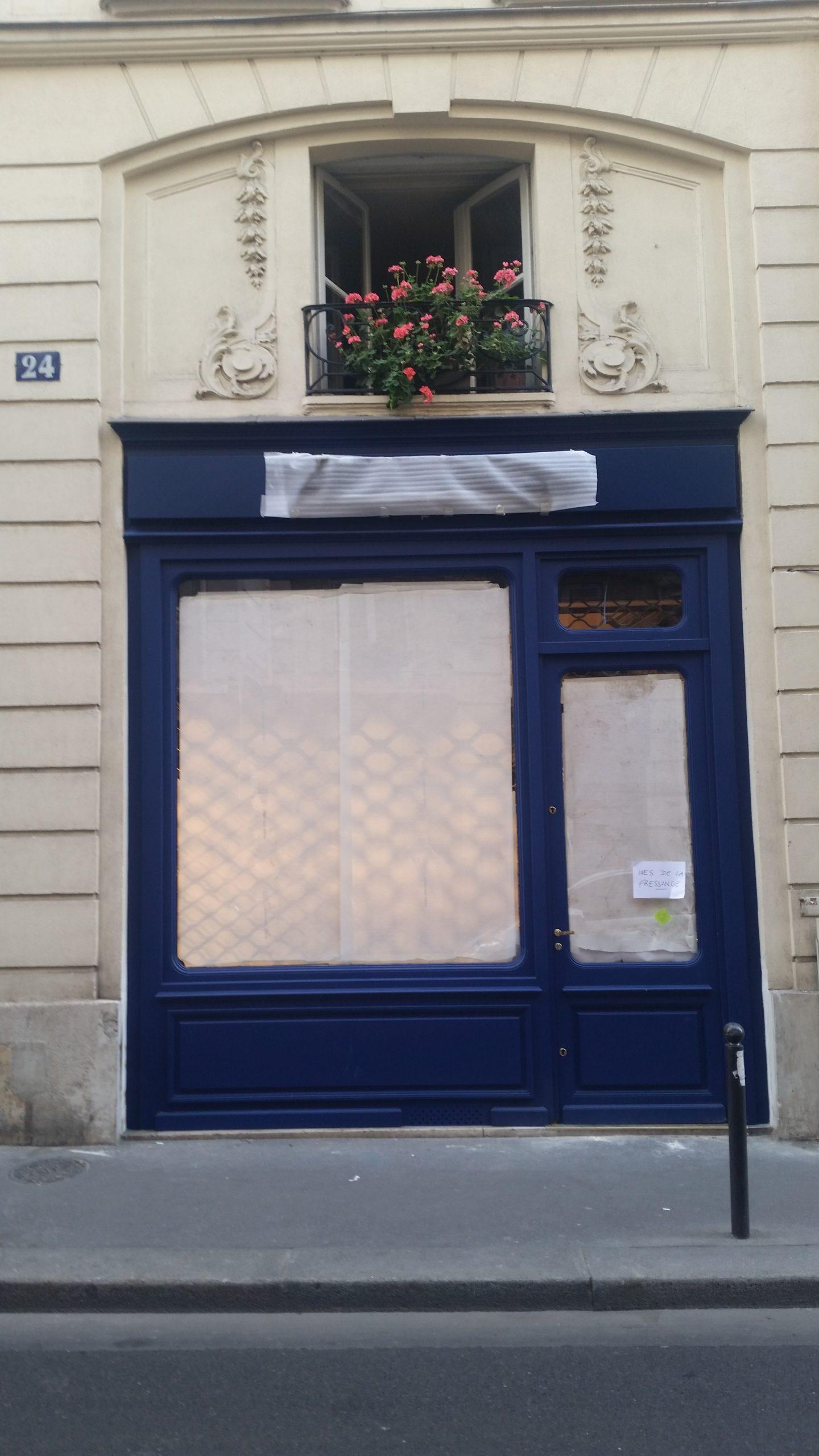 Façade de vitrine commerce