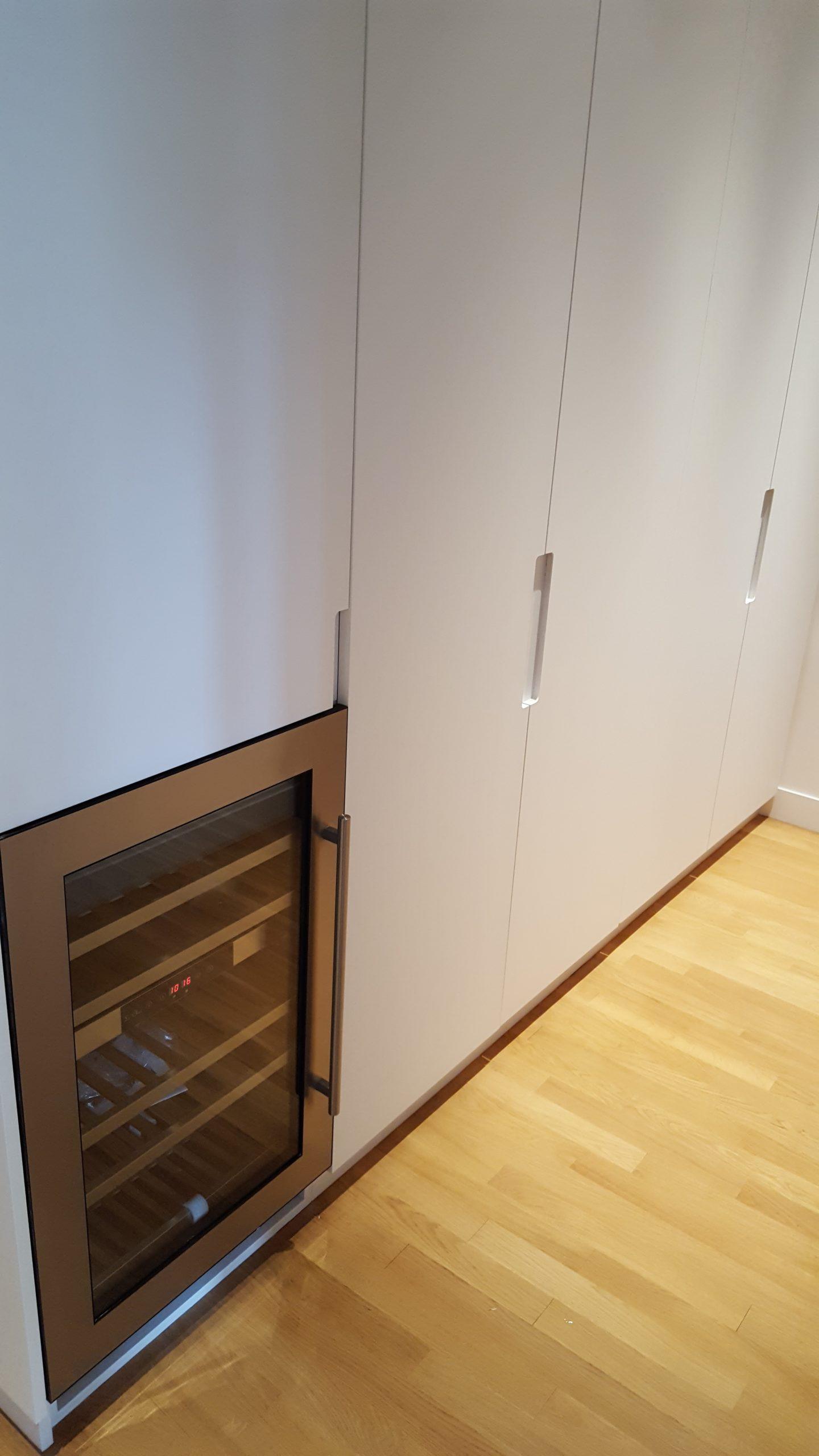 Vue de détail de meubles de cuisine encastrés