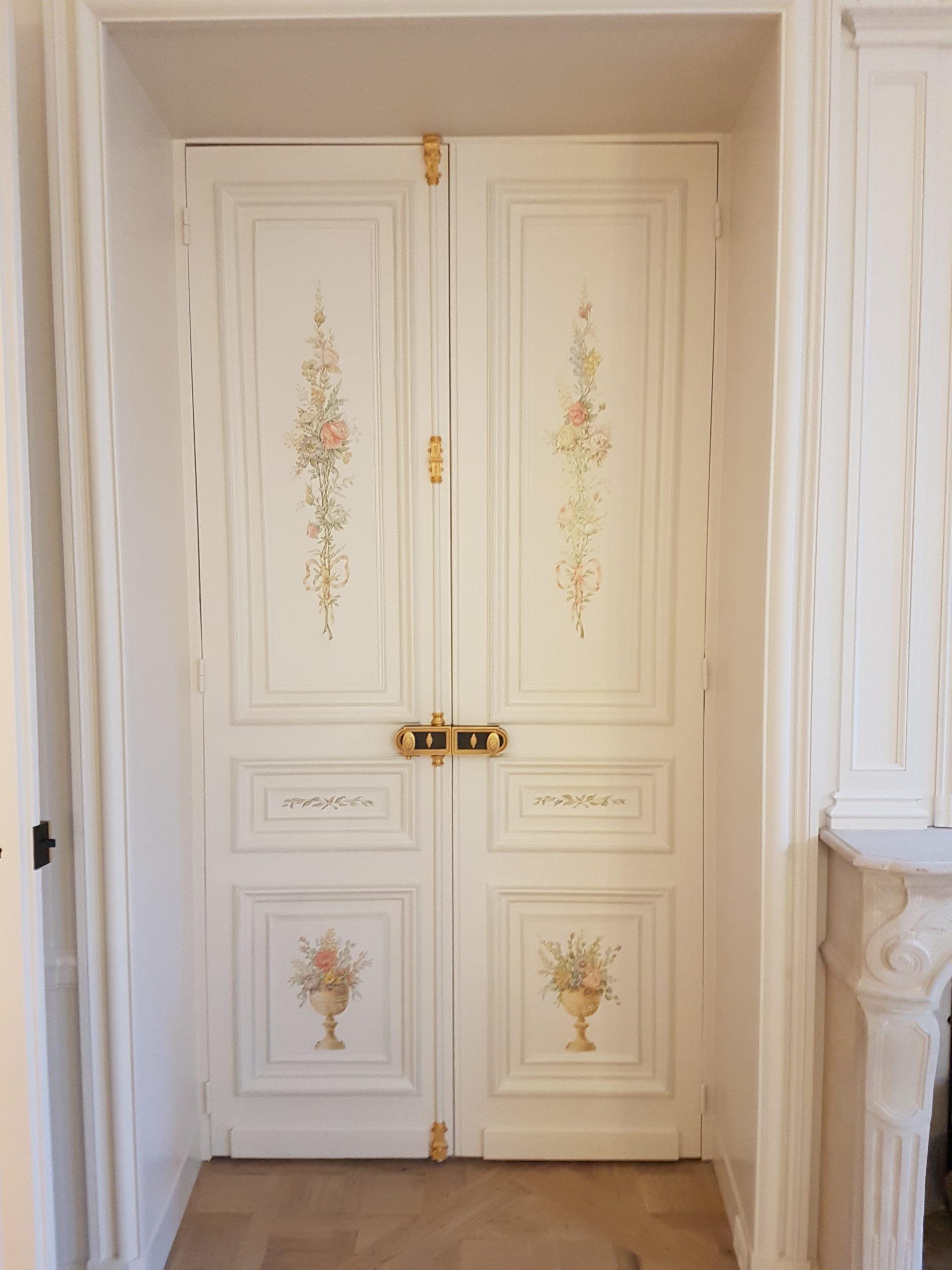 Double porte intérieure en bois