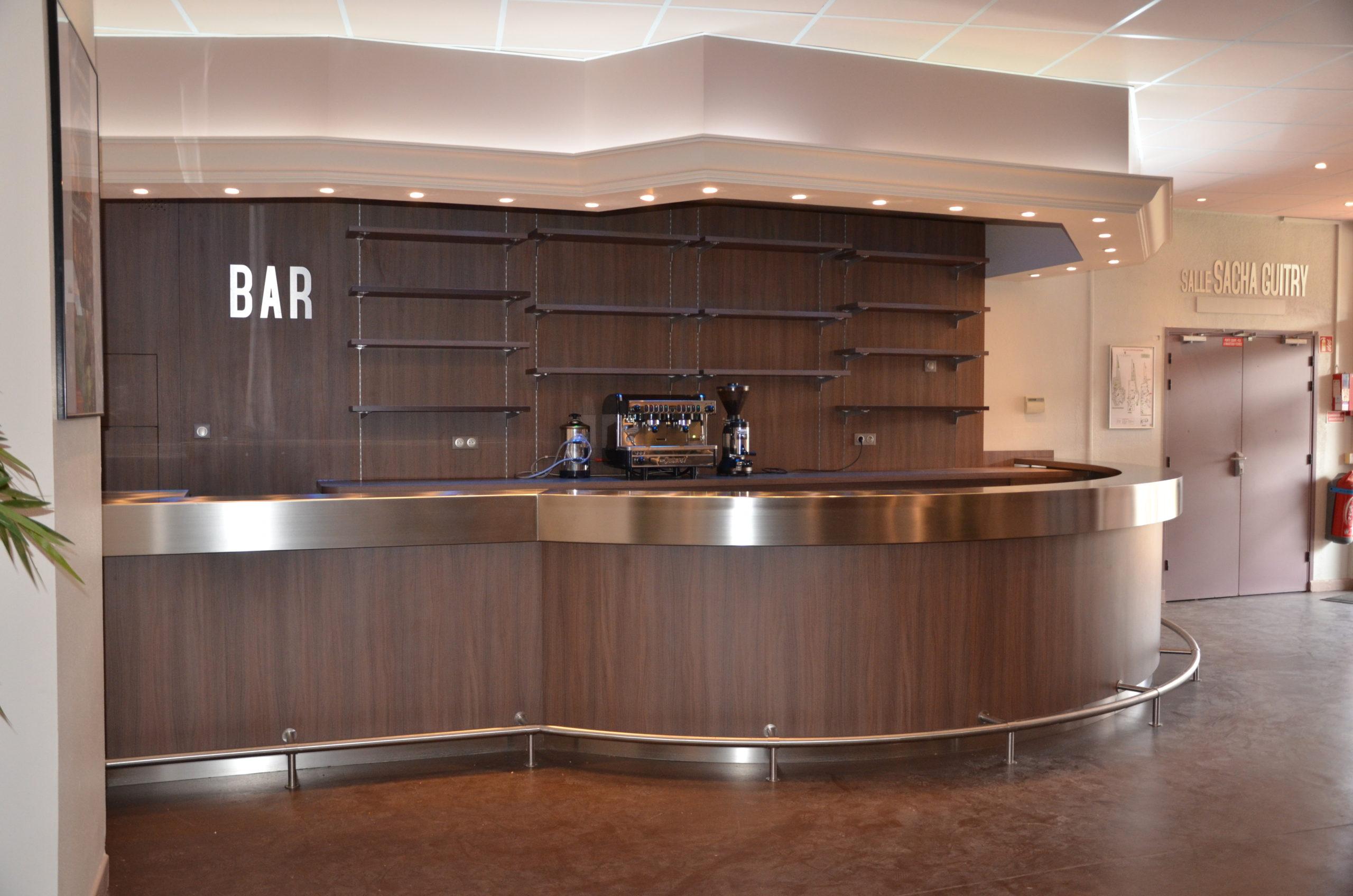 Bar d'un espace cocktail